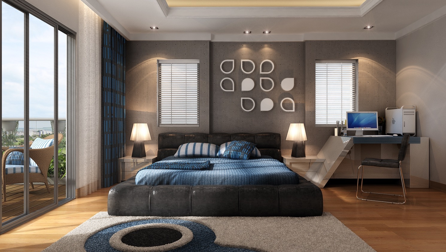 21 cool bedrooms for clean and simple design inspiration Cool master bedroom art