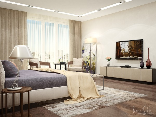 By giving each bedroom its own personality, but still sticking with the drapey, languid lines of the rest of the home, it becomes that much more luxurious.
