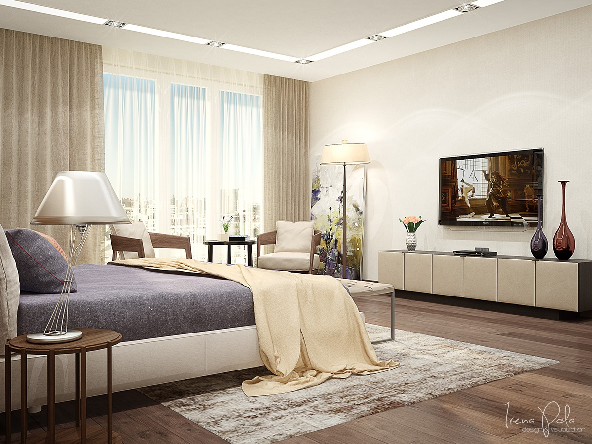 Simple Modern Bedroom - Super luxurious apartment in kiev ukraine