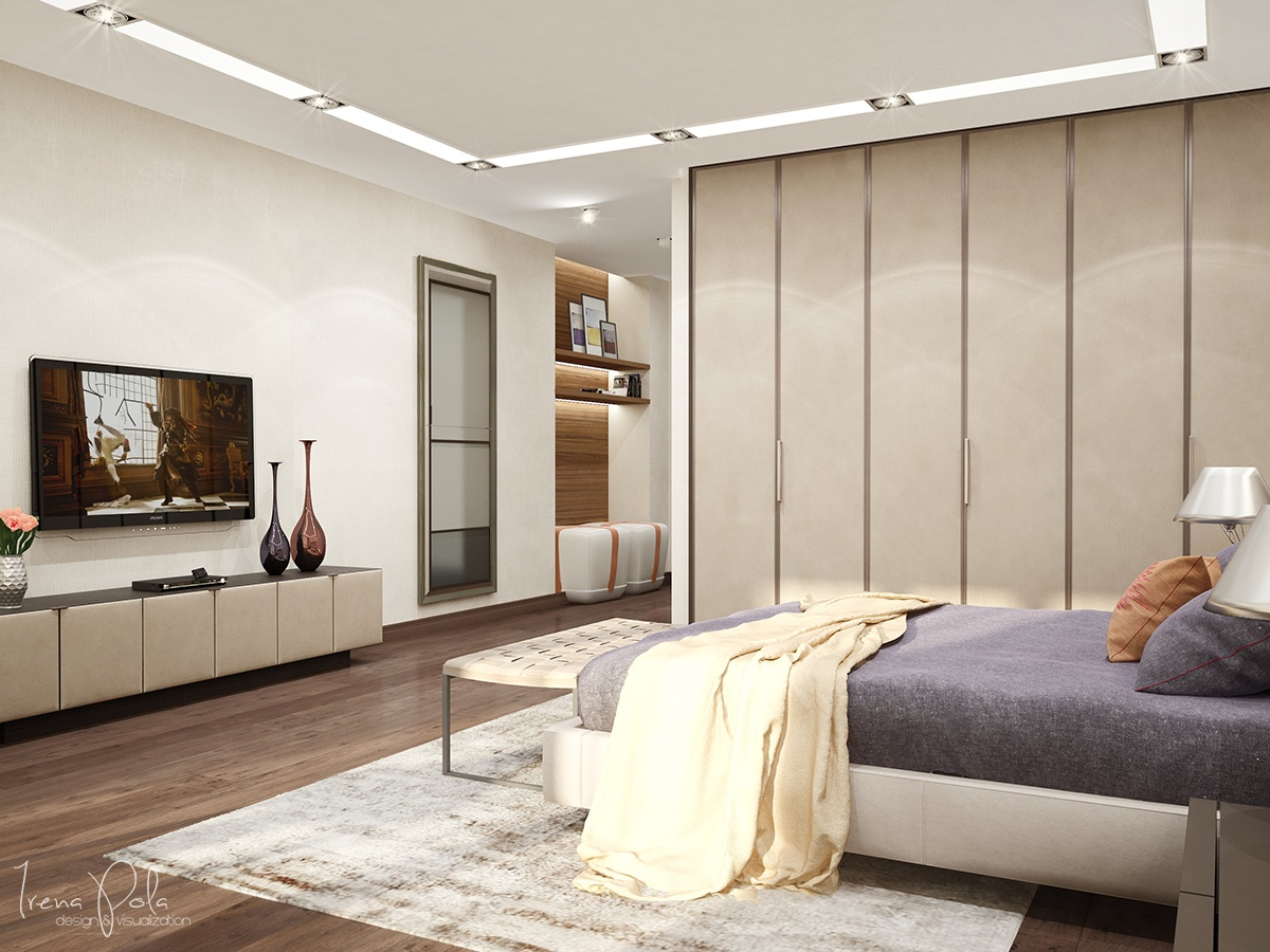 Simple Platform Bed - Super luxurious apartment in kiev ukraine