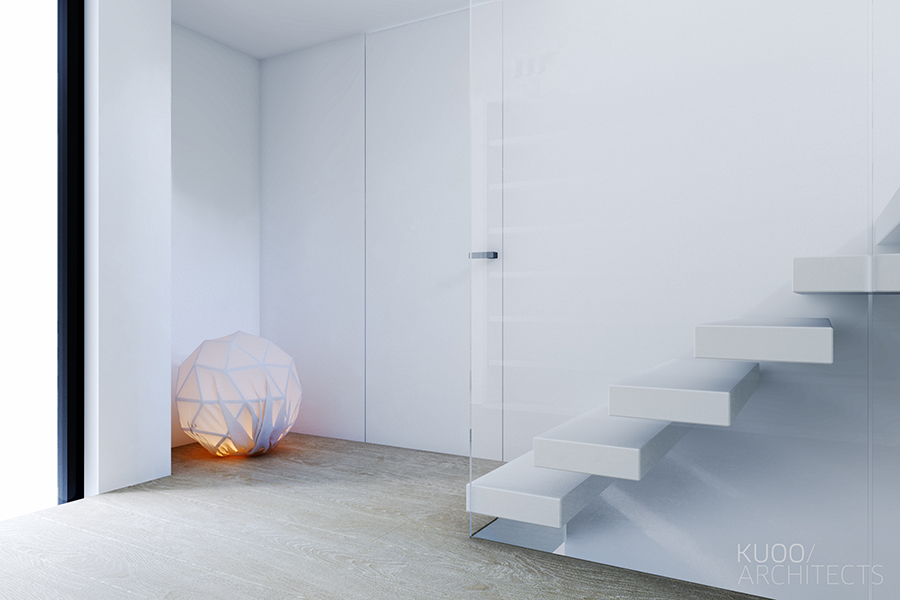 Simple White Stairs - Sleek and simple luxury in luxembourg