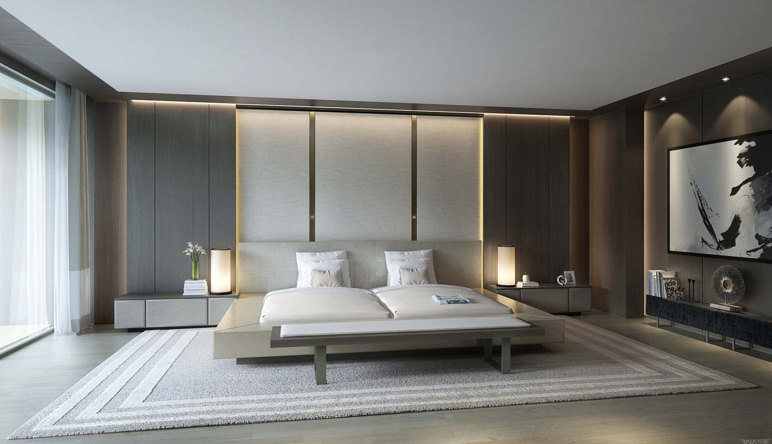 21 cool bedrooms for clean and simple design inspiration Clean modern interior design