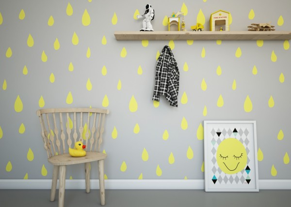 Vibrant yellow is a favorite in kids rooms and its perfectly sunny and cheerful.