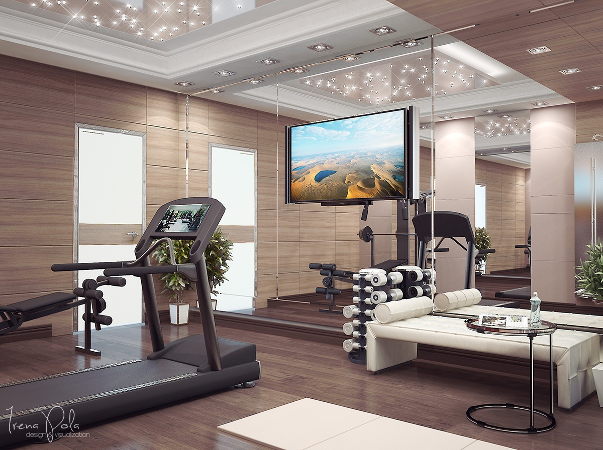 Super luxurious apartment in kiev ukraine for Luxury home gym