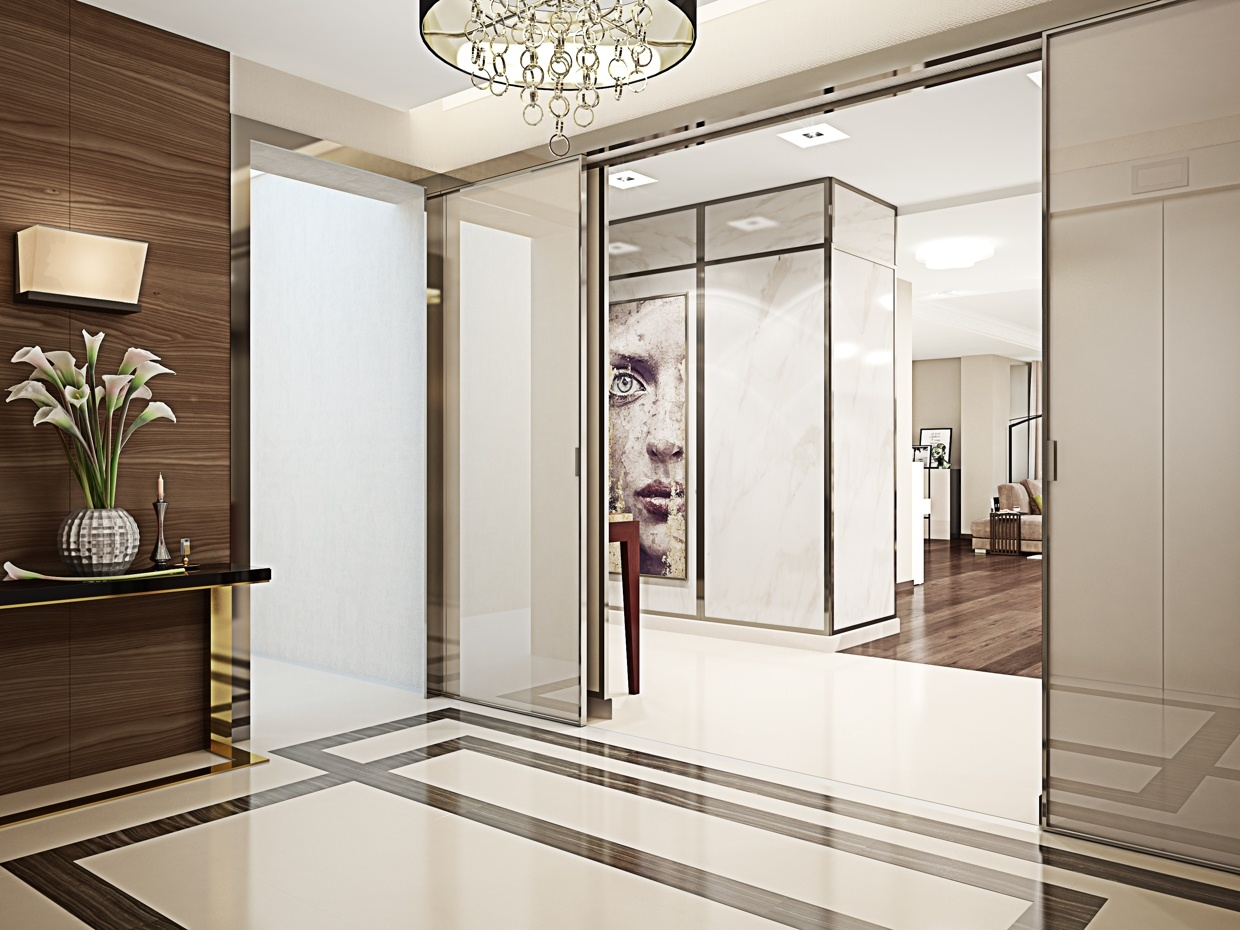 Super luxurious apartment in kiev ukraine for Foyer designs for apartments india