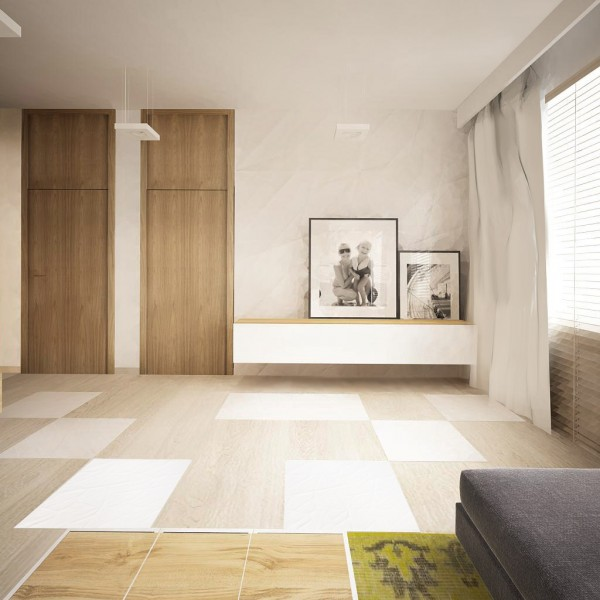 In this next apartment, natural light and wood are still key design elements.
