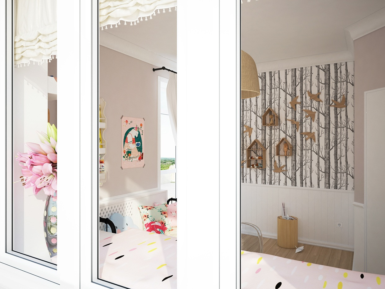 Sunny Room For Little Girl - Cute kids rooms by fajno design