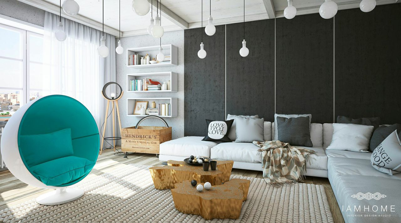 Teal Egg Chair Interior Design Ideas