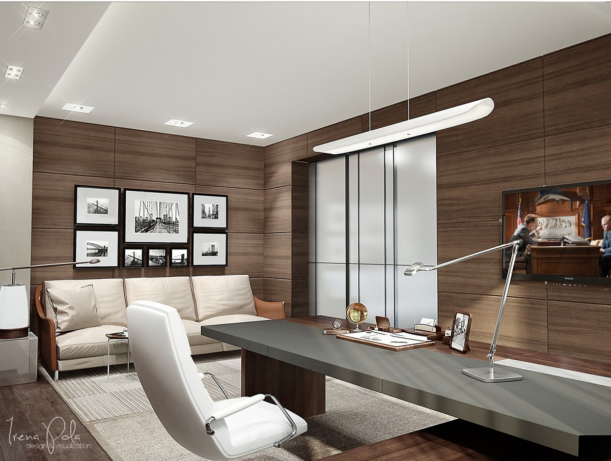 ultra-modern-home-office Interior Design Ideas. - ^