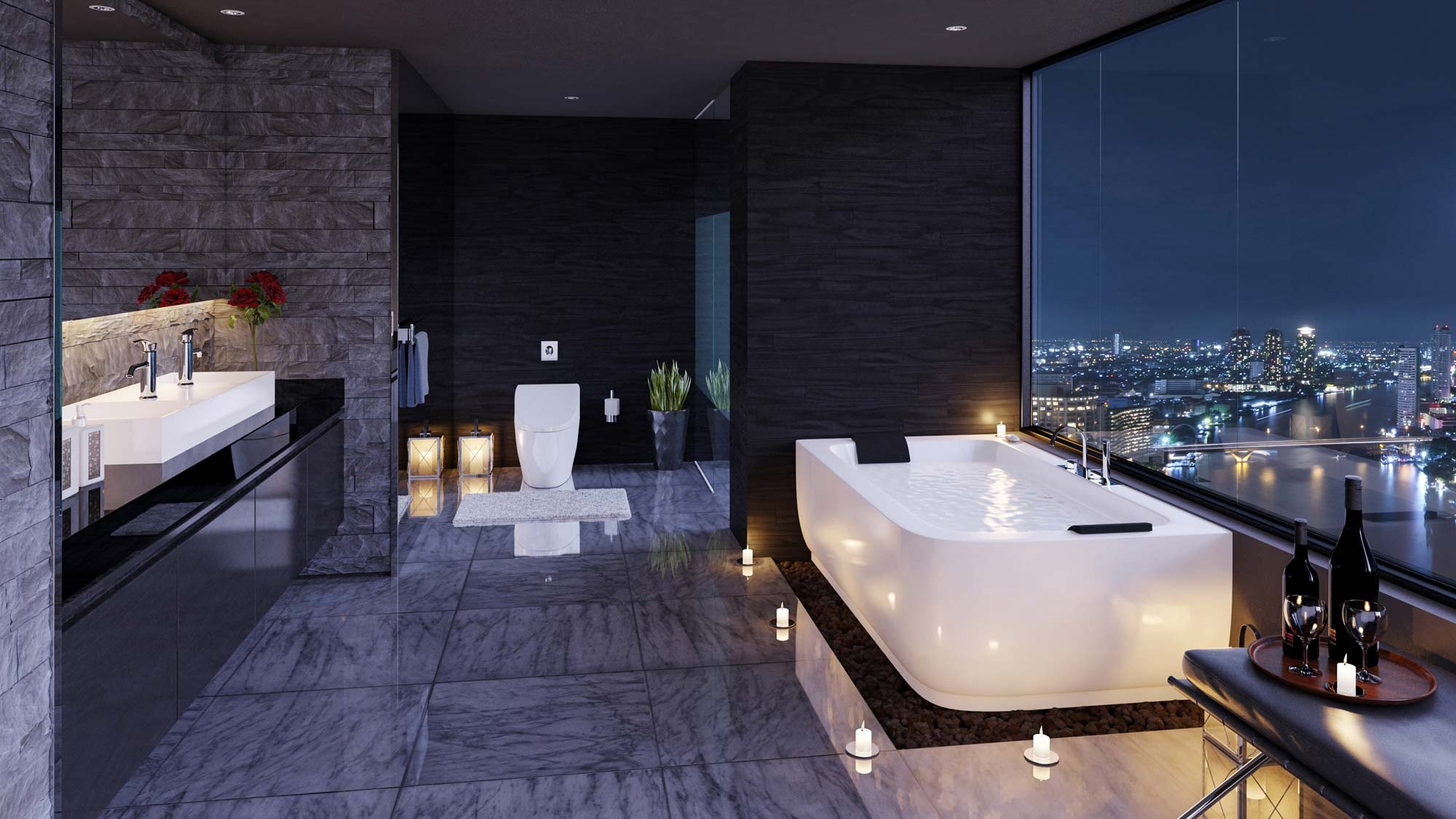 Black Luxury Modern Bathroom ultra luxury bathroom inspiration