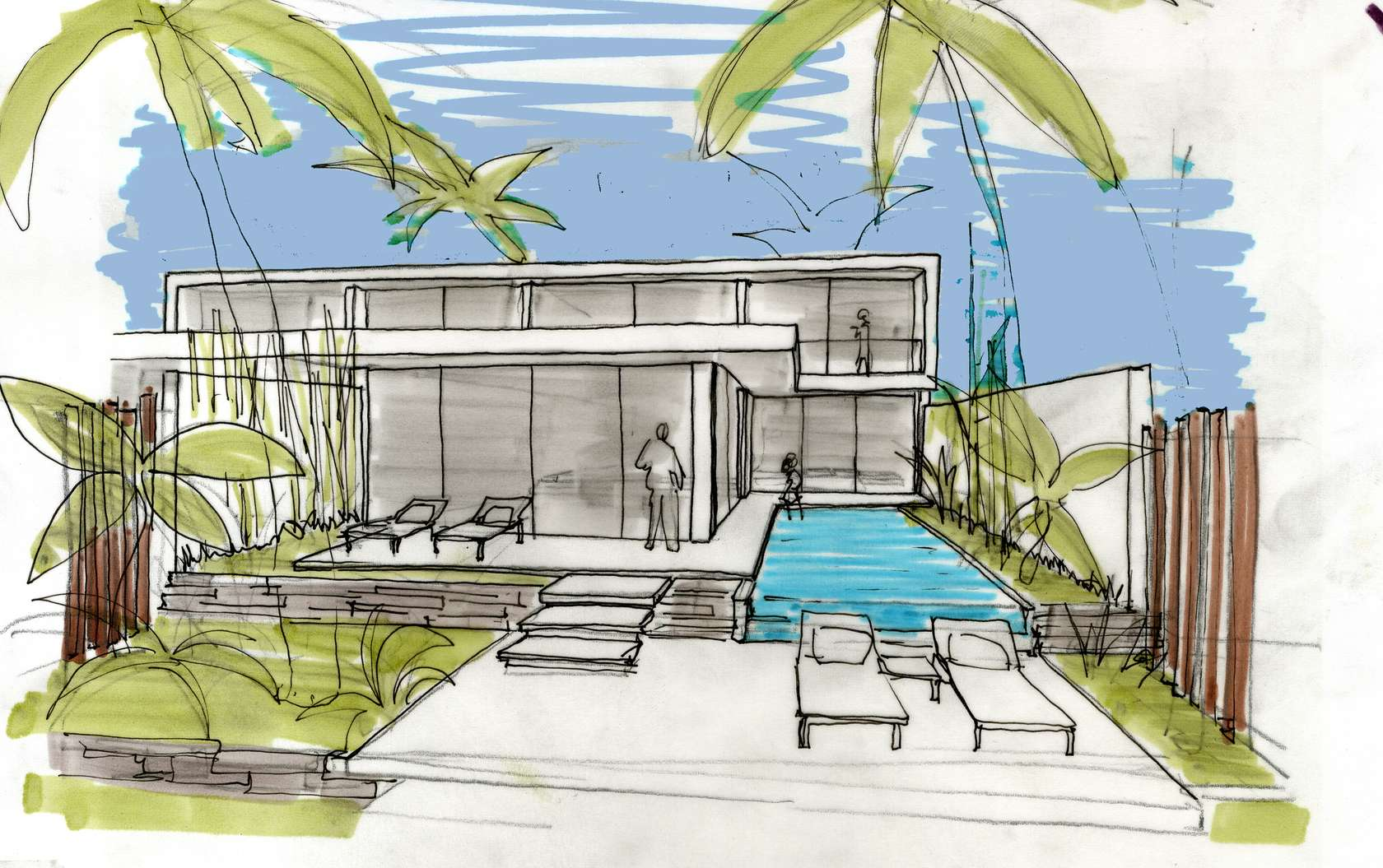Villa design sketch interior design ideas for Villa design