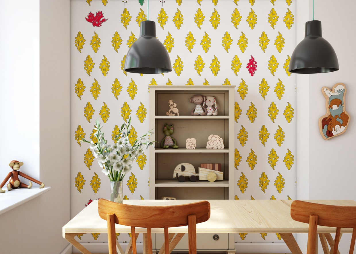 Wallpaper For Kids - Cute kids rooms by fajno design