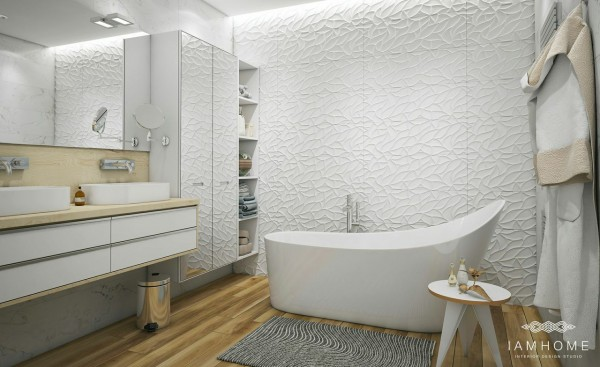 Finally, a cozy bathroom provides the ultimate relaxing retreat.