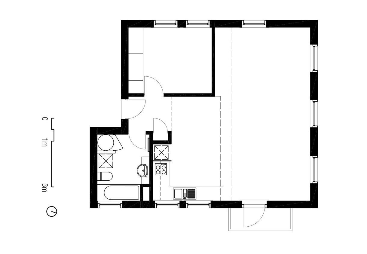 Japanese House Plans Two Apartments In Modern Minimalist Japanese Style Includes Floor