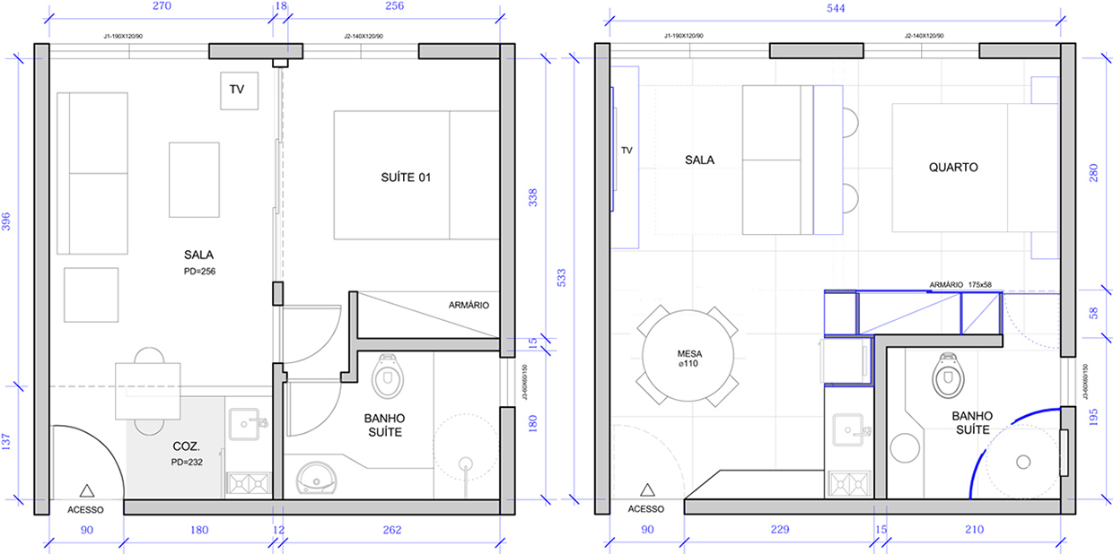 2 super small apartments under 30 square meters for 120 square feet room
