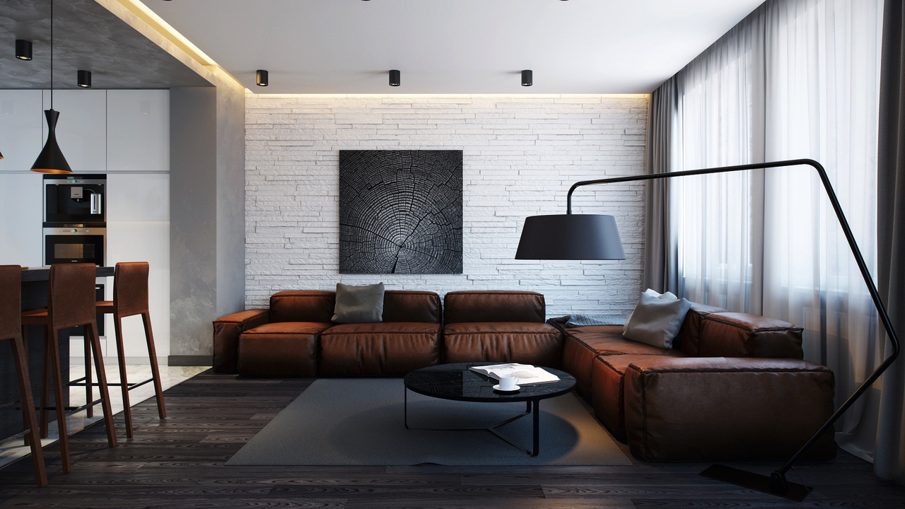 Interior Design With Leather Furniture ~ Awesome leather sofa interior design ideas