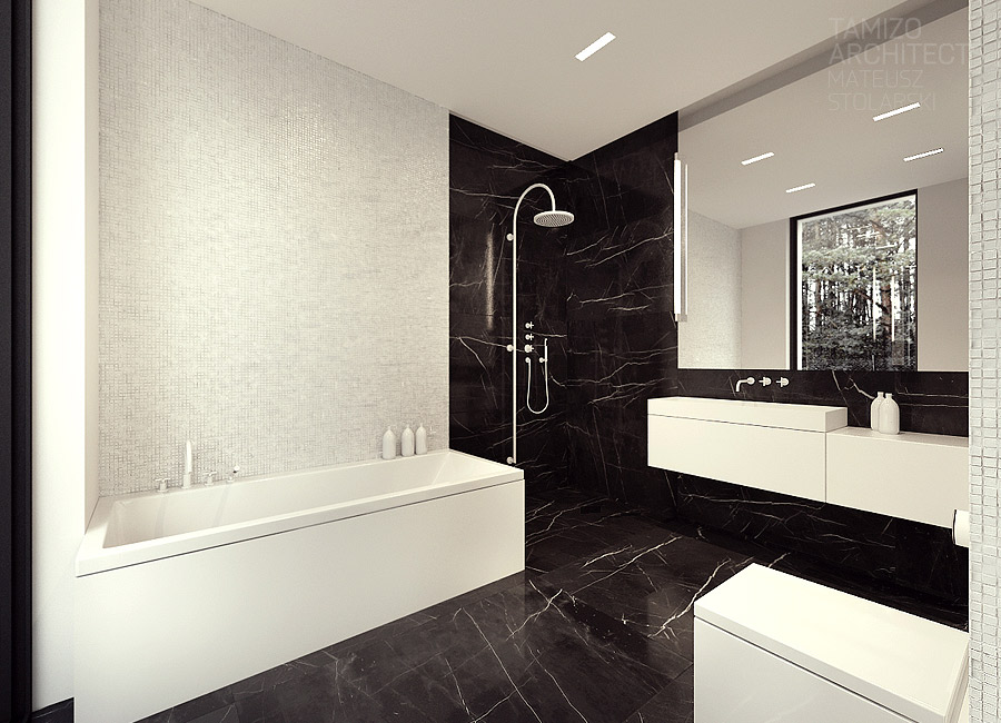 Black Marble Bathroom Interior Design Ideas