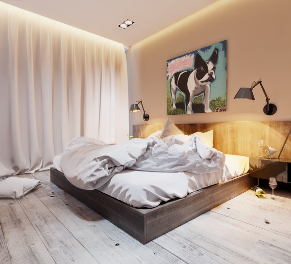 Ceiling stutio sleeping area
