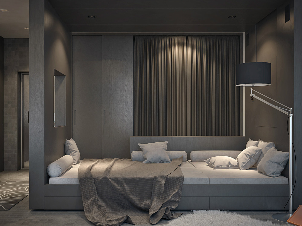 Dark Gray Design - Living and sleeping areas exist in harmony in these comfortable studio spaces