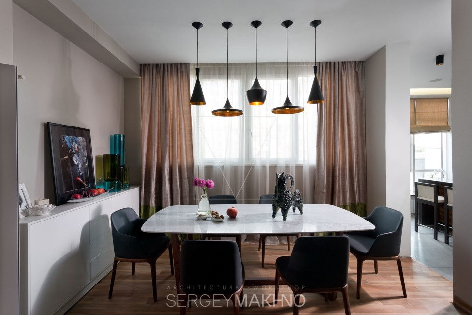 Gauzy Curtain Ideas - 3 whimsical apartment interiors from sergey makhno