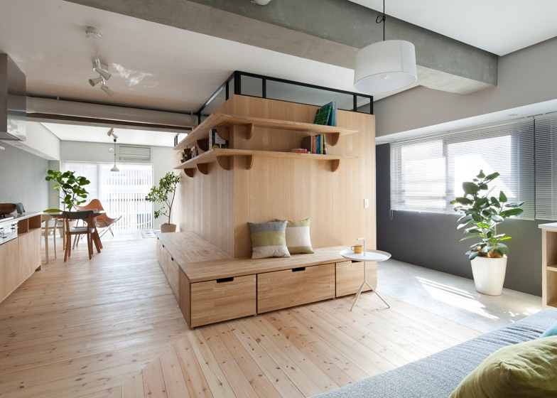 Two apartments in modern minimalist japanese style includes floor plans