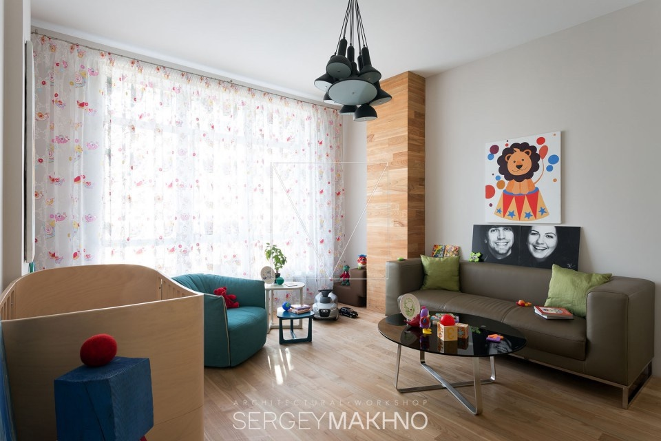 Modern Kids Room - 3 whimsical apartment interiors from sergey makhno