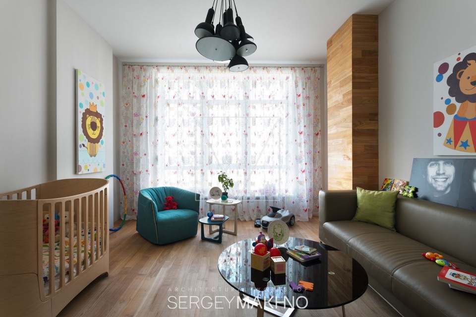 Modern Nursery - 3 whimsical apartment interiors from sergey makhno