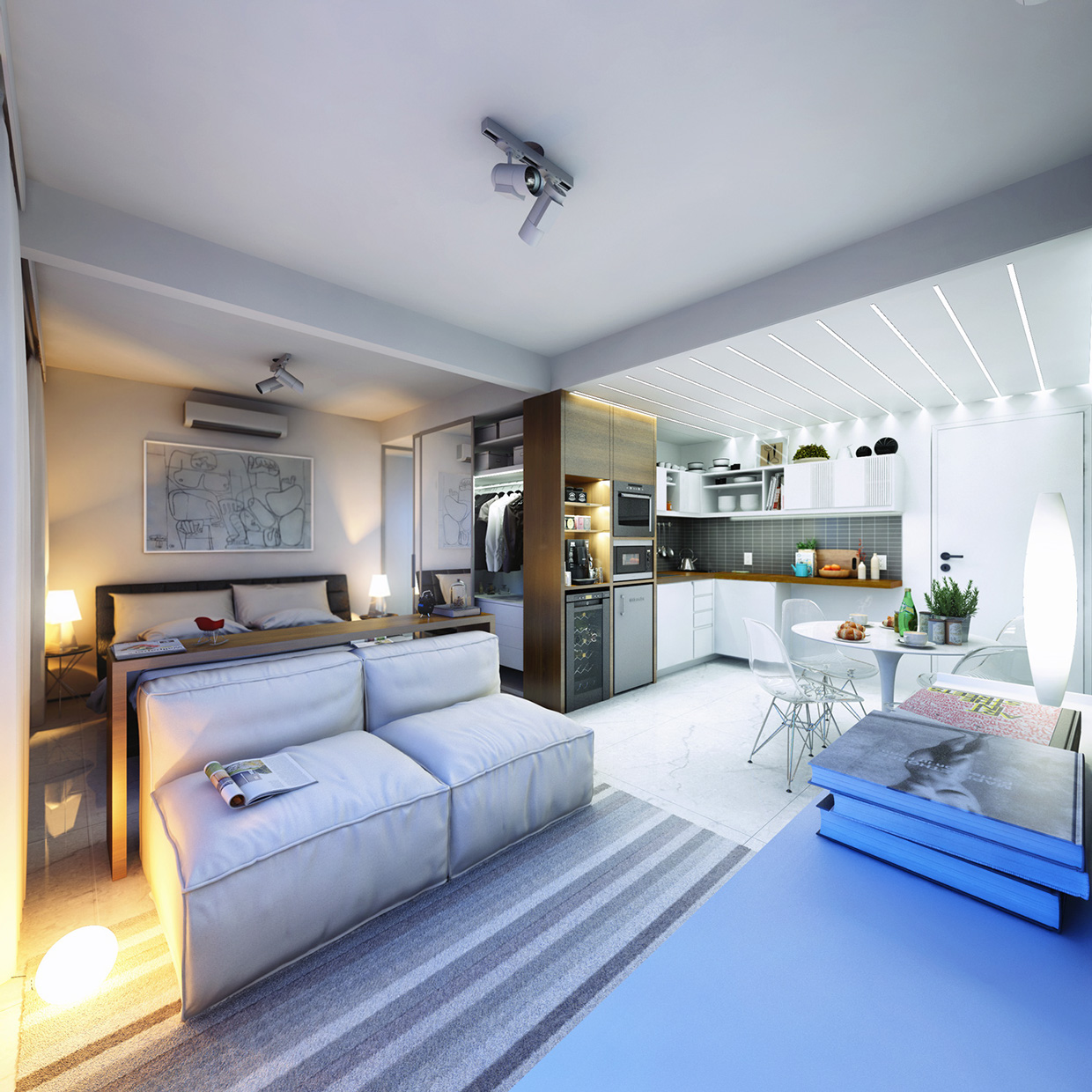 2 super small apartments under 30 square meters for One big room apartment