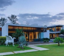 The villa sits on 2.5 acres of land and in addition to each of the six bedrooms has both indoor and outdoor living areas and plenty of room for entertaining.