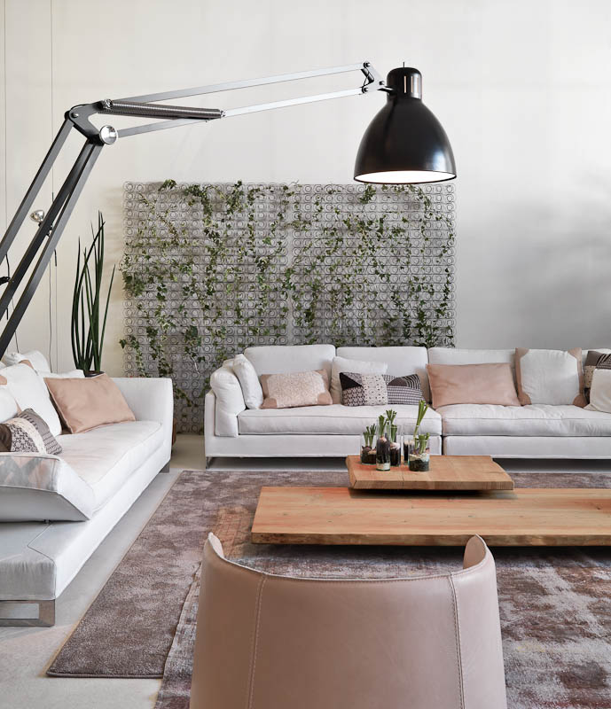 Pretty Industrial Living Room - Three creative lofts fit for stylish artists