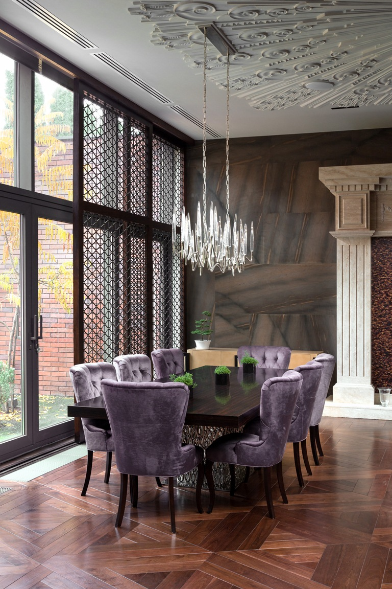 Purple dining room - Like Architecture Interior Design Follow Us