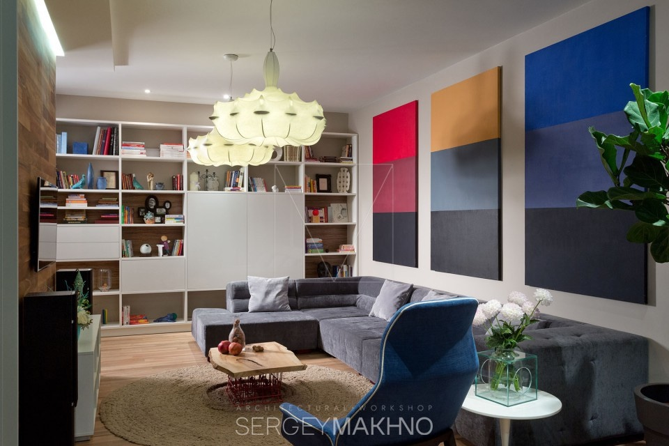 Rothko Inspired Art - 3 whimsical apartment interiors from sergey makhno