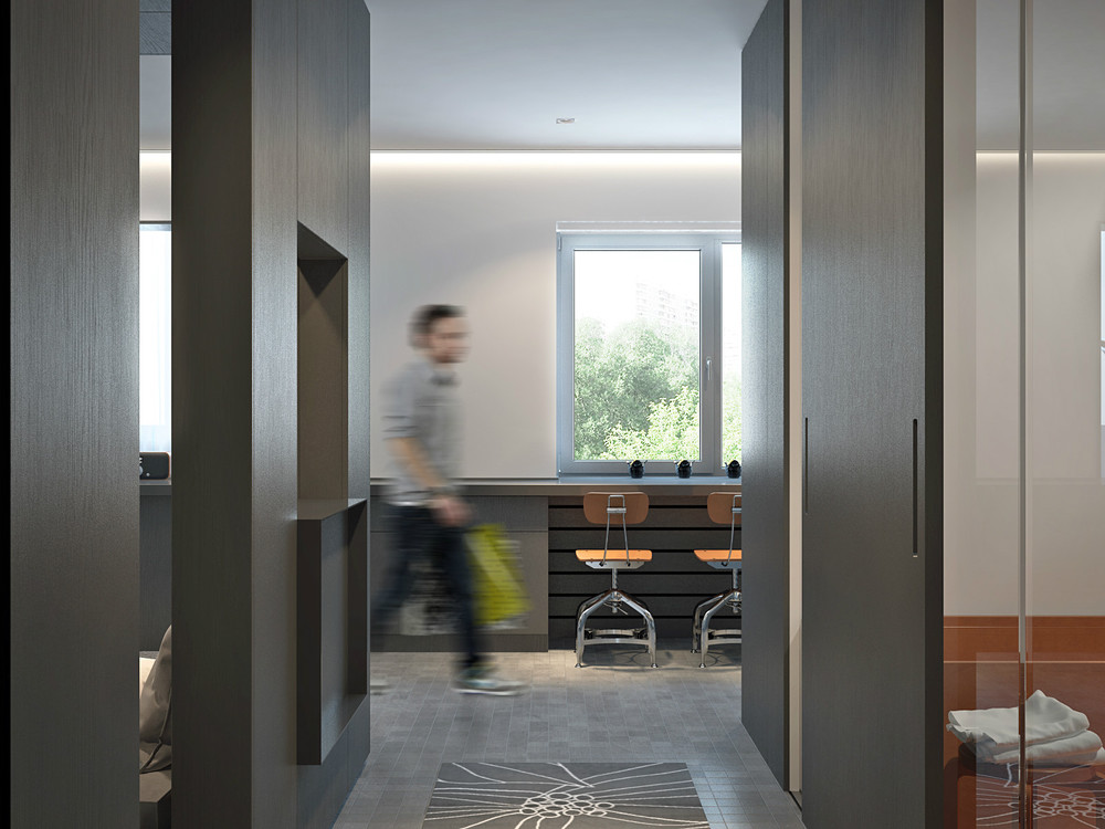 Simple Sliding Doors - Living and sleeping areas exist in harmony in these comfortable studio spaces