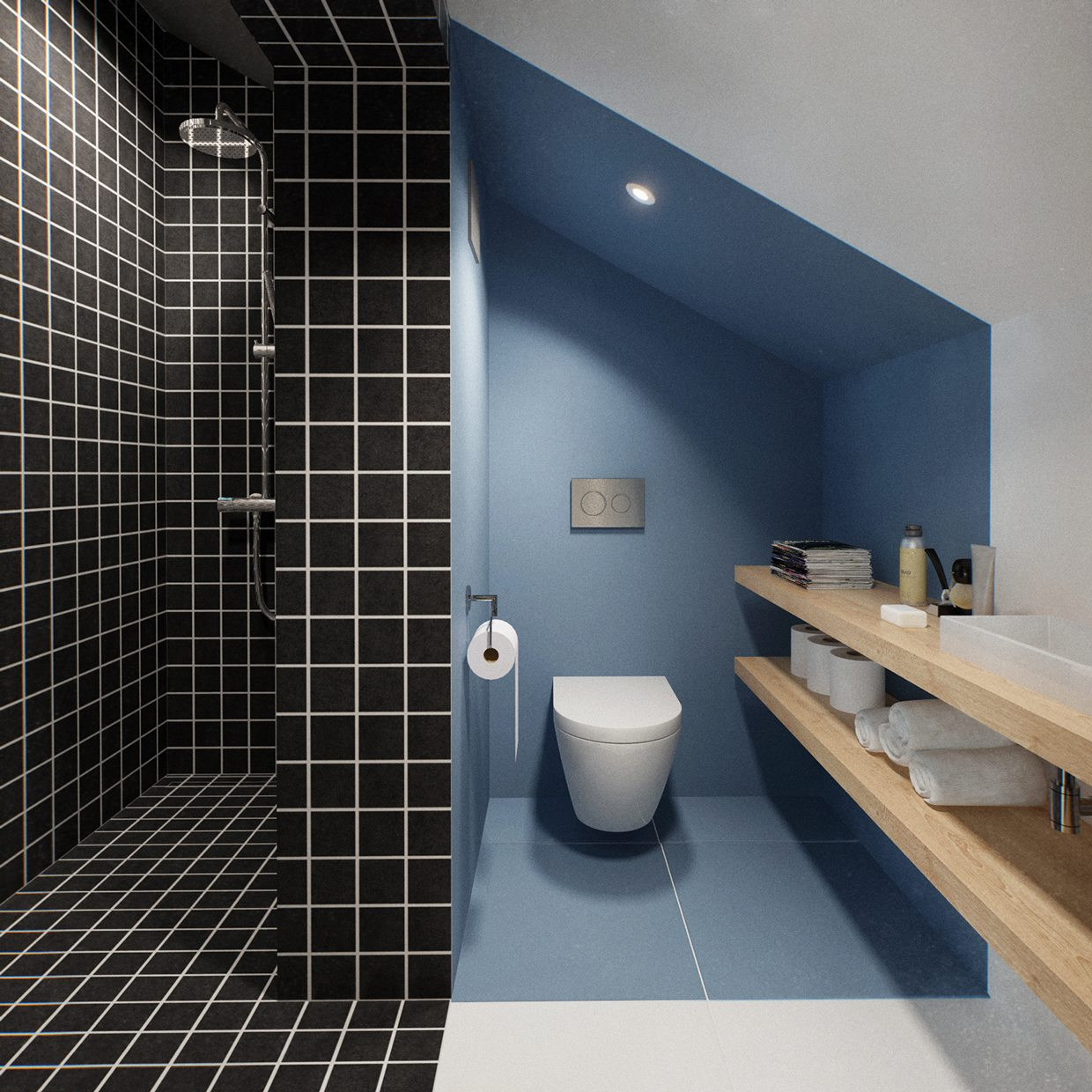 Black Tiles In Bathroom Ideas Part - 44: Like Architecture U0026 Interior Design? Follow Us..