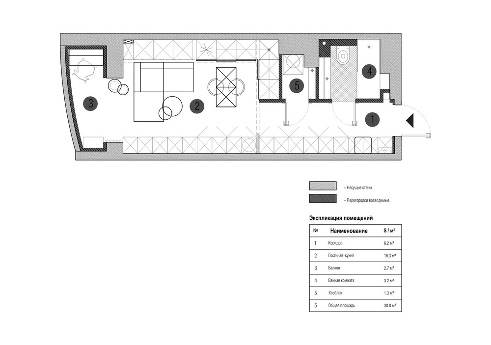 2 super small apartments under 30 square meters - Square meter house plans ...