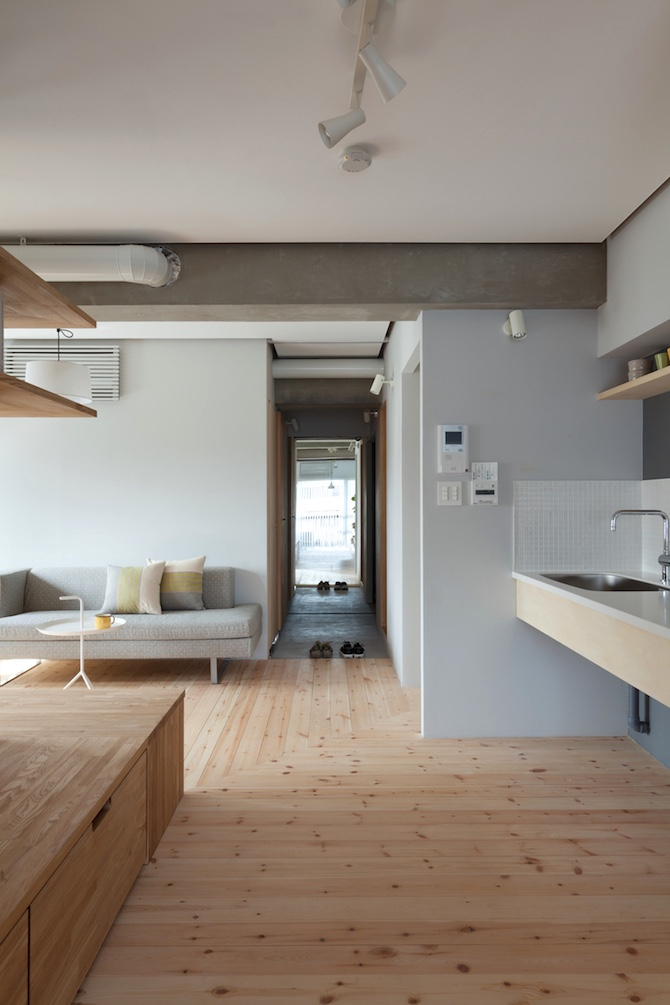 Japanese Apartment Design two apartments in modern minimalist japanese style (includes floor