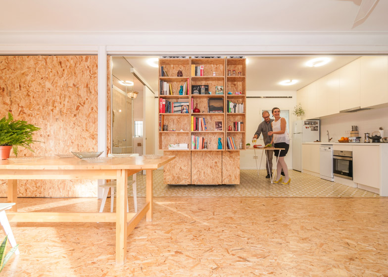 Small space ideas small apartment uses movable shelving to create endless design combinations