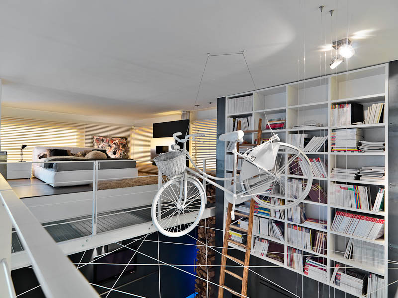 Suspended Bicycle Art - Three creative lofts fit for stylish artists
