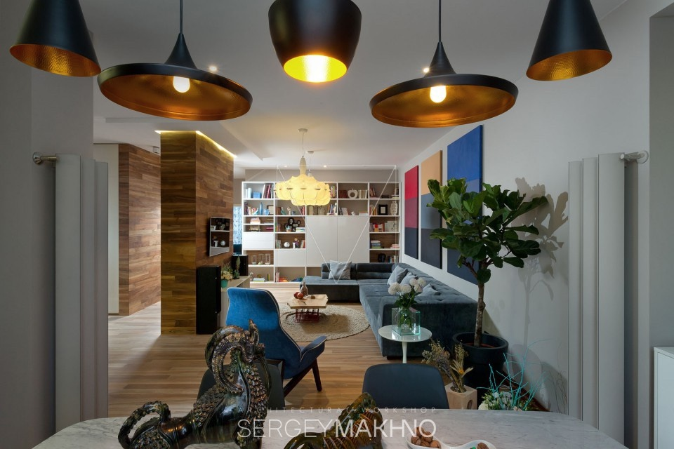 Vibrant Design Ideas - 3 whimsical apartment interiors from sergey makhno