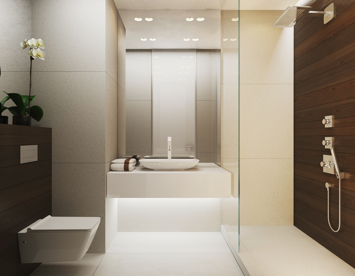 Interior Bathroom Design warm modern interior design