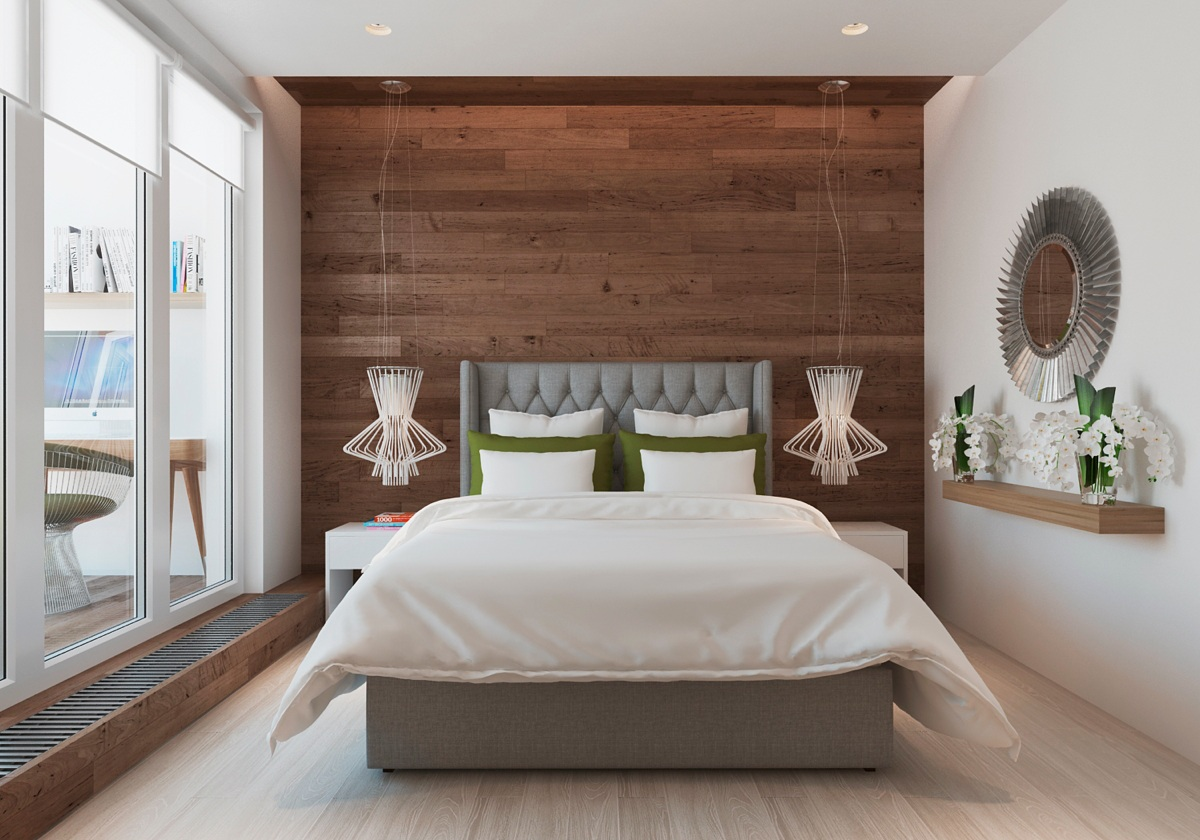 Warm modern interior design for Bedroom bed designs images