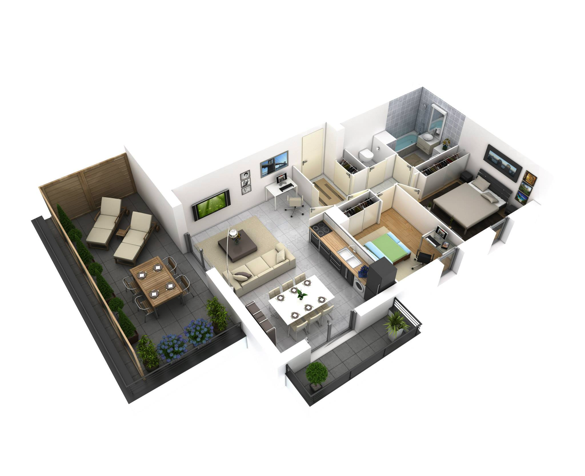 25 more 2 bedroom 3d floor plans for 3d floor plan free
