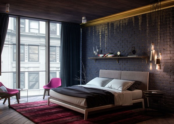 black-and-gold-bedroom