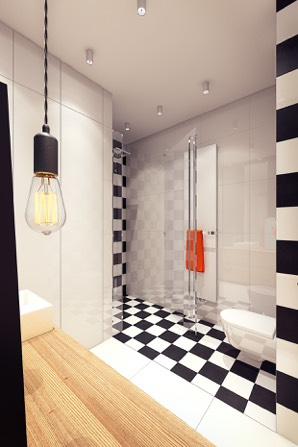 Black And White Tile - 2 sunny apartments with quirky design elements
