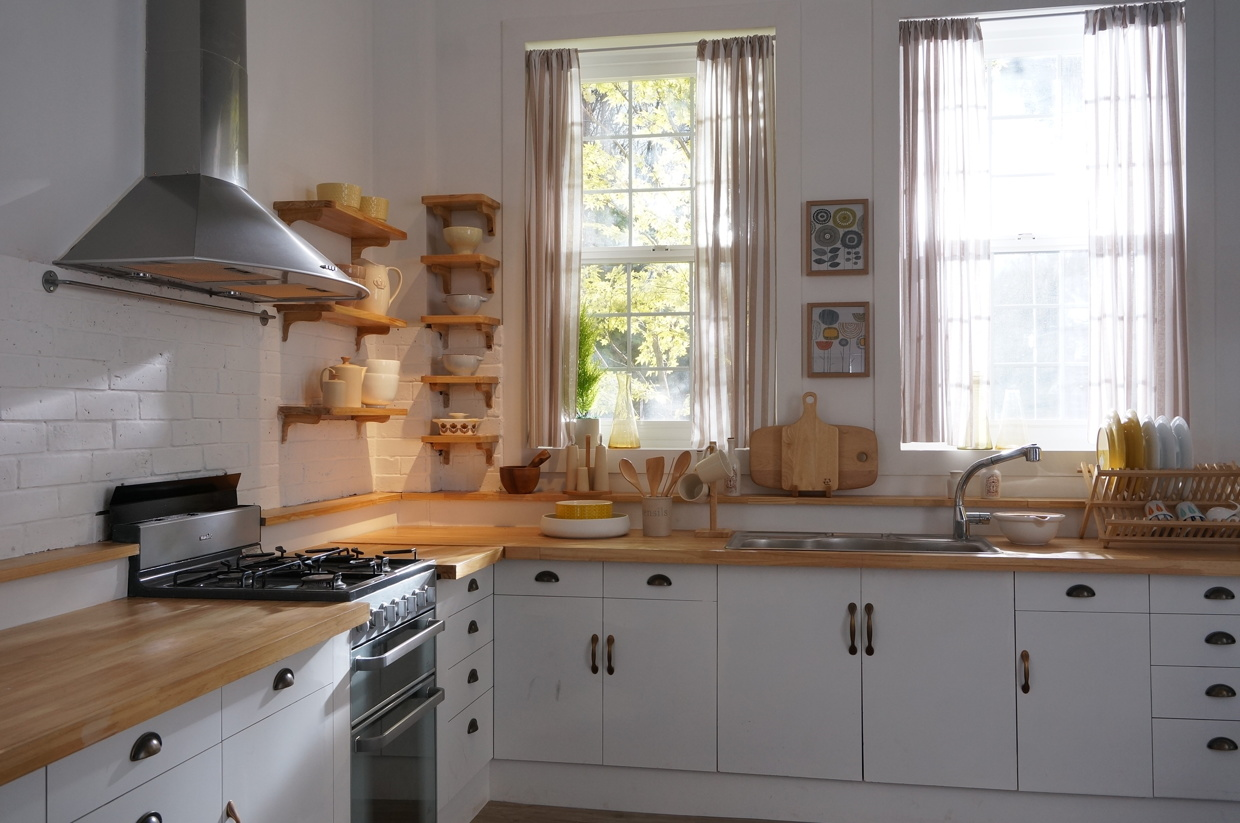 Korean Interior Design Inspiration : butcher block countertops from www.home-designing.com size 1240 x 823 jpeg 317kB