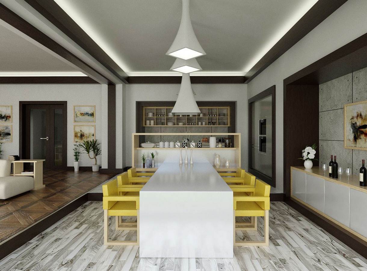 Cool contemporary dining room interior design ideas Images of modern dining rooms