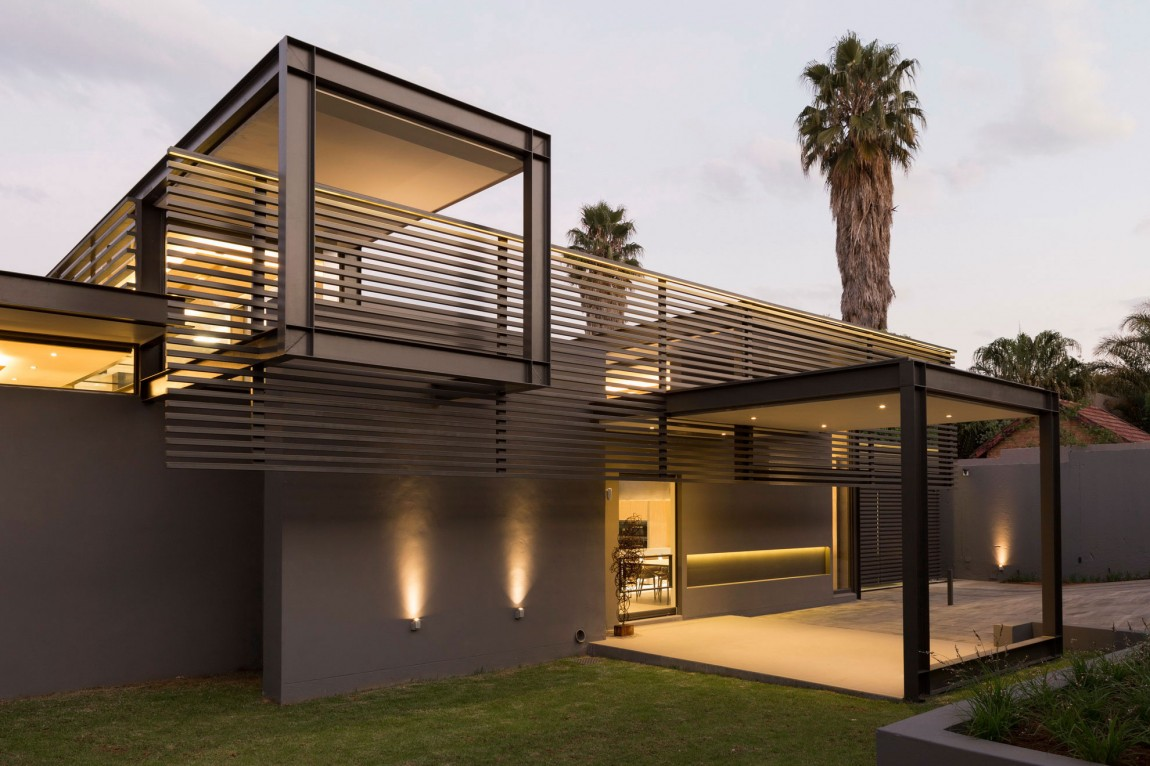 Creative renovation gives modern life to an existing frame for Home design ideas south africa