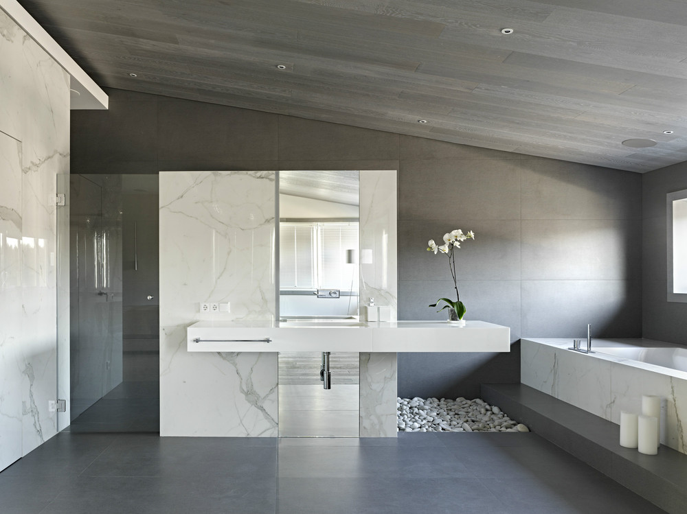 Gorgeous Bathroom Ideas - Invisible doors turn a home into an artistic feat of design