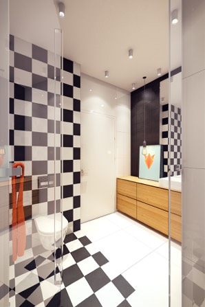 Kitschy Bathroom Design - 2 sunny apartments with quirky design elements