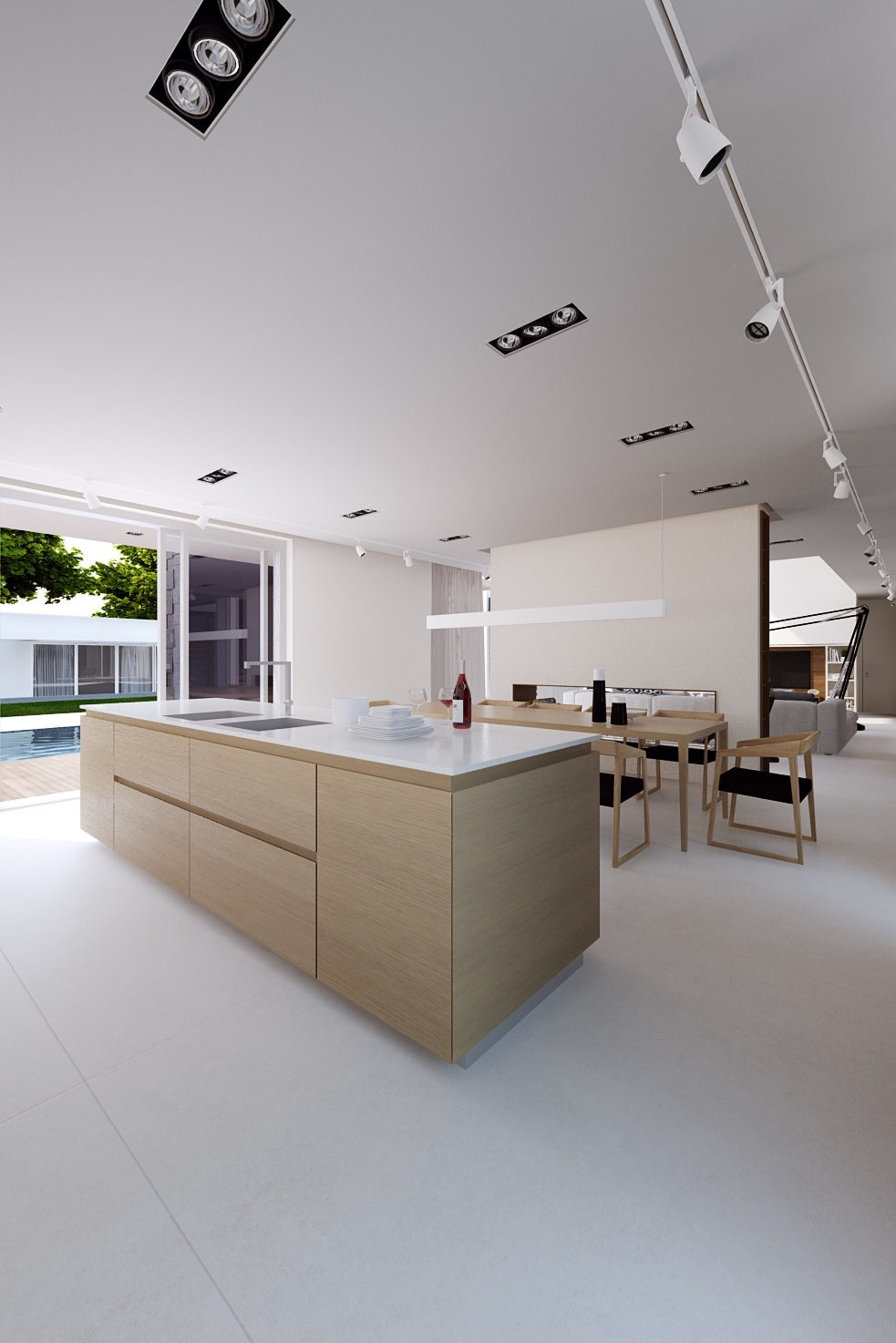 Minimal White Apartment Design - A sleek house that puts a passion for cars on display